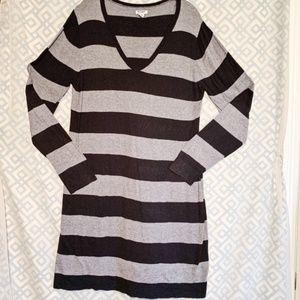 🦎 Old Navy Striped Sweater Dress Midi Women XL